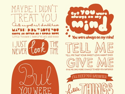 Always on my mind poster always on my mind pet shop boys illustration typography
