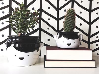 Improved by Me - More planters! upcycling re-design interior pencil diy ceramics