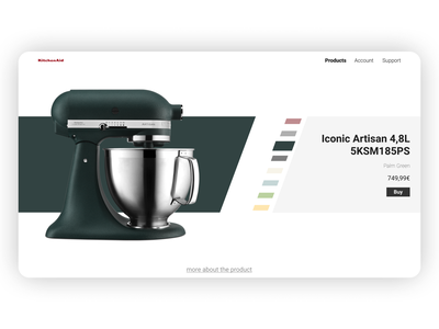 Daily UI 033 - Customize Product choices product customize product page ecommerce customize product dailyui 033 dailyui033 daily ui dailyui blender kitchenaid kitchen figma