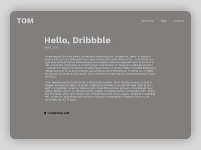 Daily UI 035 - Blog Post webdesign ux ui figma design blogger dailyui 035 dailyui035 daily ui dailyui post blog