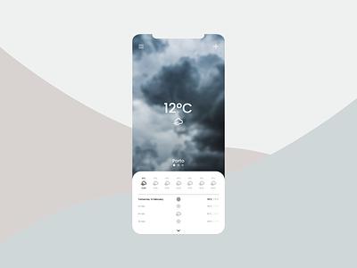 Daily UI 037 - Weather dailyui 037 dailyui037 ux ui illustration dailyui daily ui weather app sunny mobile app design weather design