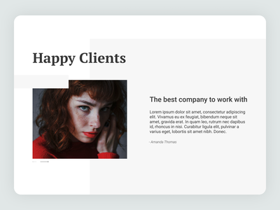 Daily UI 039 - Testimonials client figma ux ui quote people website concept dailyui 039 dailyui039 daily ui dailyui website design website testimonials