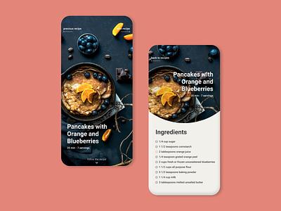 Daily UI 040 - Recipe food app figma app mobile recipe dailyui 040 dailyui040 daily ui dailyui design