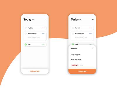 Daily UI 042 - ToDo List app design simple clean dailyui 042 dailyui042 daily ui dailyui todo list webdesign figma design