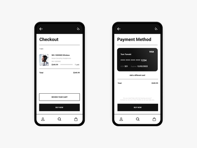 Daily UI 002 - Credit Card Checkout minimalist figma dailyui002 ecommerce app design checkout credit card checkout credit card dailyui 002 dailyui