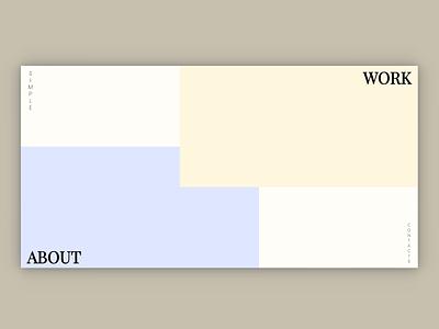 SIMPLE - Interactive Full Page Website minimalism minimalist ux web webdesign css html javascript website web design