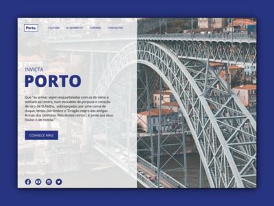 PORTO - Landing Page Concept