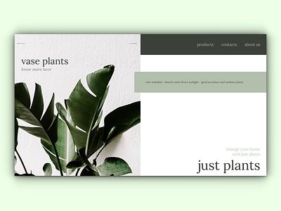 just plants - Full Page eCommerce Website plants website design webdesign web ux html figma design website web design