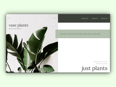 just plants - Full Page eCommerce Website