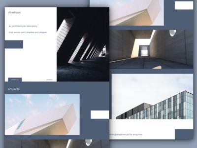 shadows - single page portfolio design