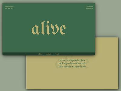 alive - Website Concept business card ui ux website design webdesign web figma design website web design