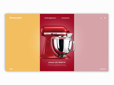 KitchenAid Colours branding kitchen brand kitchenaid minimalism ui ux website design webdesign web figma design website web design