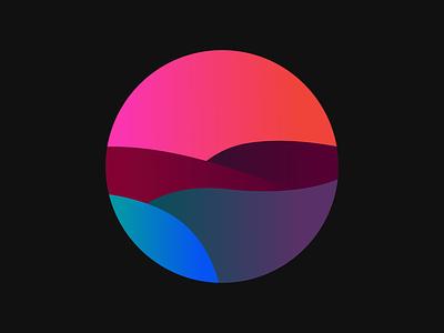 Neon Waves waves graphic design illustrator icon branding vector logo illustration design