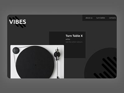 Vibes ecommerce web ux ui website design webdesign figma website web design design