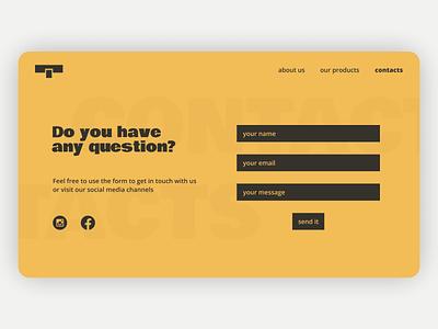 Daily UI 028 - Contact Us form contact dailyui028 dailyui 028 daily ui dailyui webdesign web design ux ui design figma