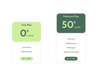 Daily UI 030 - Pricing table app design ux ui dailyui 030 dailyui030 daily ui dailyui pricing figma design