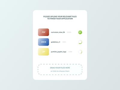 Daily UI 031 - File Upload gradient webdesign dailyuichallenge pdf upload file dailyui031 dailyui 031 daily ui dailyui figma design