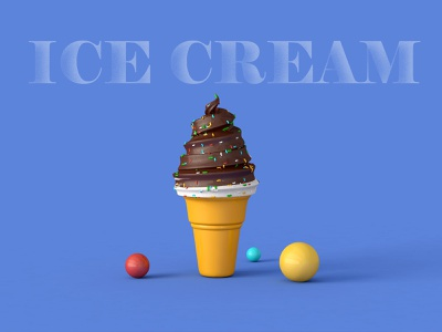 ICE CREAM2020-10-29 icecream render 3d c4d