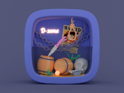 D-zone icon render illustration 3d c4d