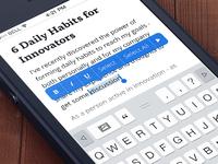 iOS 7 Keyboard