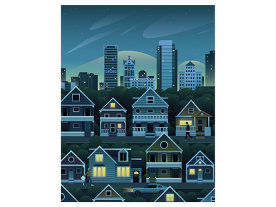 Milwaukee milwaukee blue illustration flat landscape city