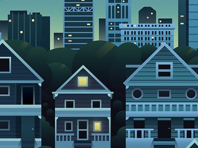 Milwaukee milwaukee blue illustration flat landscape city