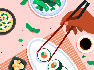 Sushi c4d motion graphics gif motion animation japanese food japanese food sushi