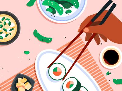 Sushi c4d motion graphics gif motion animation japanese food japanese food sushi