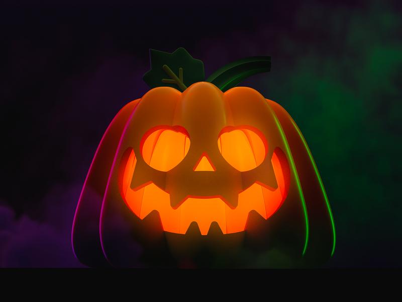 Jack O' Lantern illustration jack o lantern halloween pumpkin cinema4d cinema 4d 3d art 3d