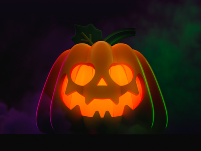 Jack O' Lantern illustration jack o lantern halloween pumpkin cinema4d cinema 4d 3d art 3d