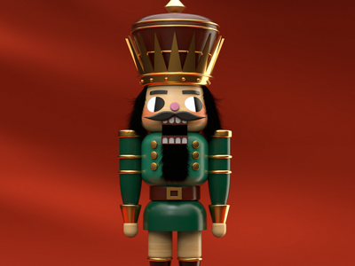 Nutcracker christmas xmas holidays nutcracker 3d modeling cinema4d illustration illustrator 3d art 3d