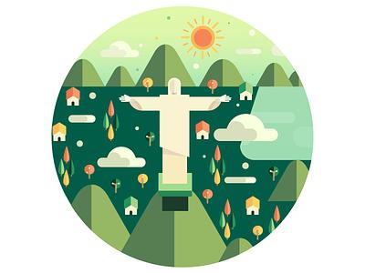 Christ Redeemer brazil rio de janeiro christ redeemer green city flat