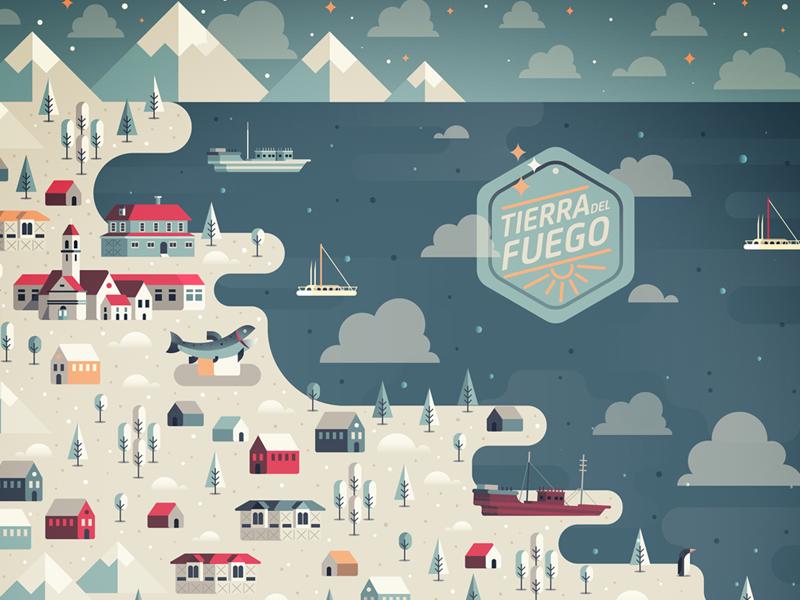 Tierra del Fuego island tierra del fuego land of fire chile cold snow mountains ice argentina