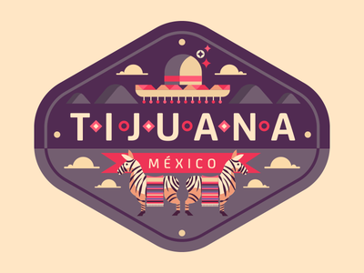 Tijuana hat donkey burro mexico tijuana badge
