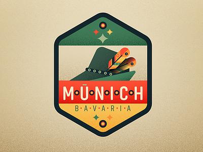 Munich germany oktober fest fedora badge munich