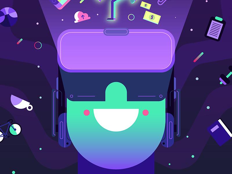 VR PCworld purple tech technology virtual reality vr