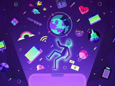 VR PCworld 2 wifi saturn everest smarphone purple tech technology virtual reality vr