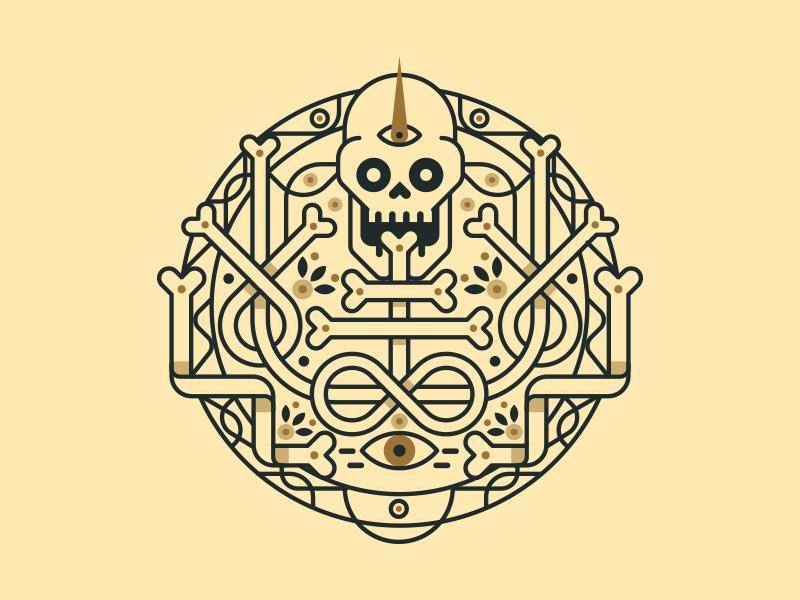 Personal Project eye bones medal skull