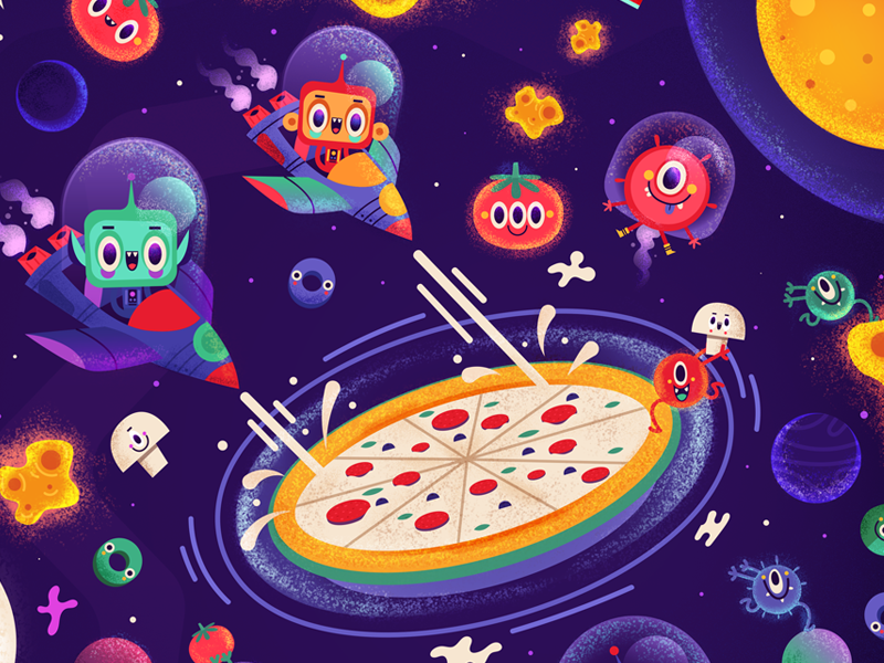 Mellow Mushroom Menu fun space ships alien universe pizza