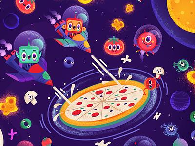 Mellow Mushroom Menu fun space ships alien universe pizza