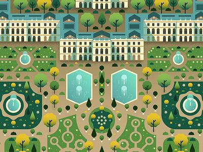 Versailles Garden fountain trees gardens garden palace versailles