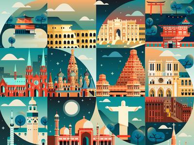 Cosmópolis 66 barcelona kyoto paris france russia tourism landmarks cityscape city