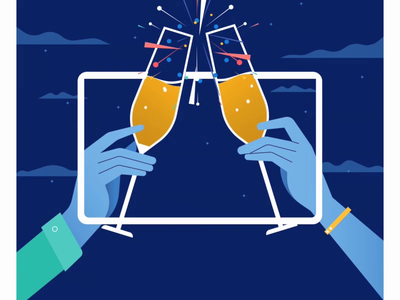 American Express NYE celebration fireworks sparkler nyc ball glass cups 2019 nye