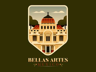 Bellas Artes -  Mexico City mexico architecture badge design badge