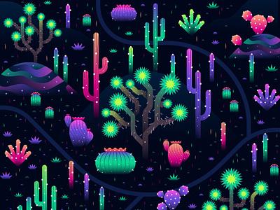 Electric Desert cactus cacti desert map landscape