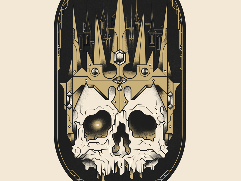 King of Sorrow - Permanent Records Tattoo tattoo skull photoshop illustration king crown