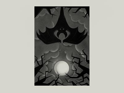 Bat spooky moon halloween horror photoshop illustration bat