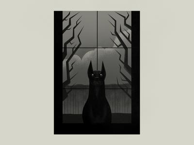 Doberman halloween grim black dog photoshop dog doberman