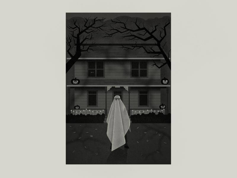 Halloween photoshop illustration poster movie horror michael myers halloween