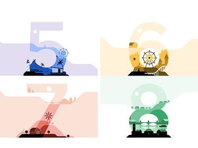 Uber Driver Milestones vector design milestones gif illustration flat landscape city